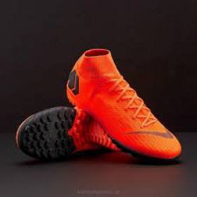 NIKE MERCURIAL SUPERFLYX VI ACADEMY TF - TOTAL ORANGE/BLACK/TOTAL ORANGE/VOLT